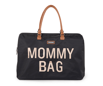 Mommy Bag - Negra Letras Doradas