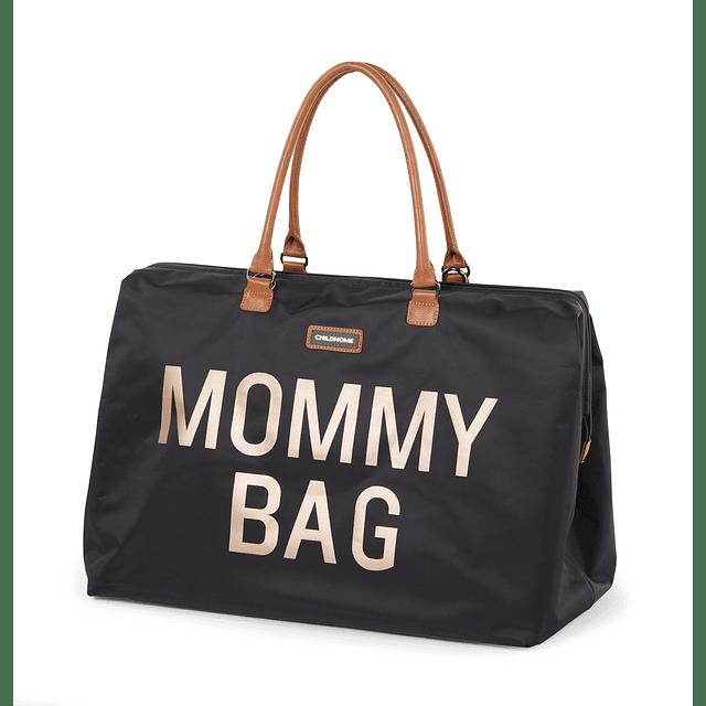 Mommy Bag - Negra Letras Doradas