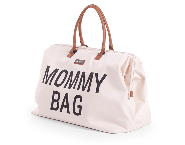 Mommy Bag - Crema Letras Negras
