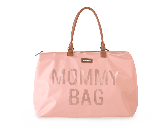 Mommy Bag - Rosa Letras Doradas