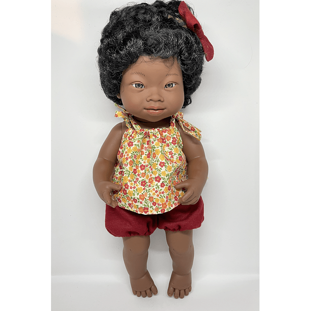 Muñeca Africana con Síndrome de Down 38 cm