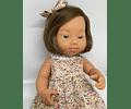 Muñeca Niña Castaña con Síndrome de Down 38 cm