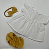 Vestido Blanco Algodón - Lino