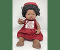 Vestido con Capota Rojo Lino