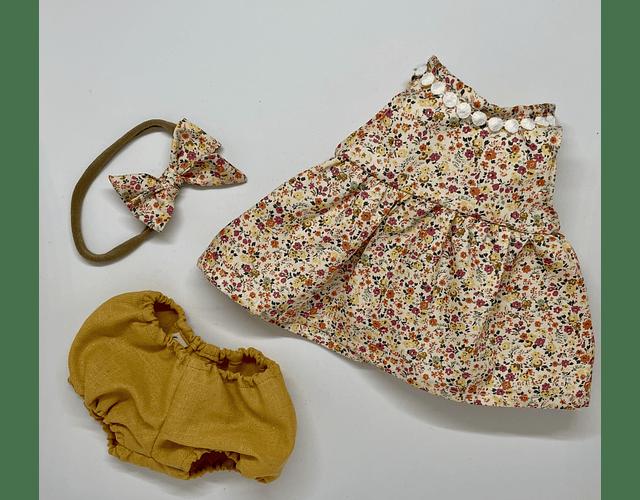 Vestido Flores Algodón - Lino