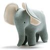 Elefante de Algodón Orgánico Verde/Azul