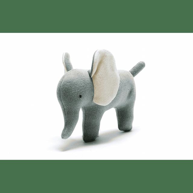Elefante de Algodón Orgánico Verde/Azul Pequeño