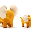 Elefante de Algodón Orgánico Mostaza Pequeño