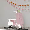Balancín Motocicleta - Rosa (Vespa)