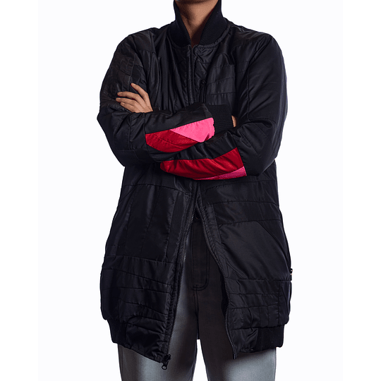 Chaqueta Bomber Oversize Rosa