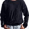 Saco negro de cuello redondo - Calathea