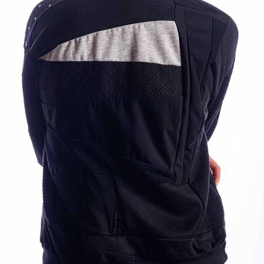 Saco negro cuello redondo - Estrellas