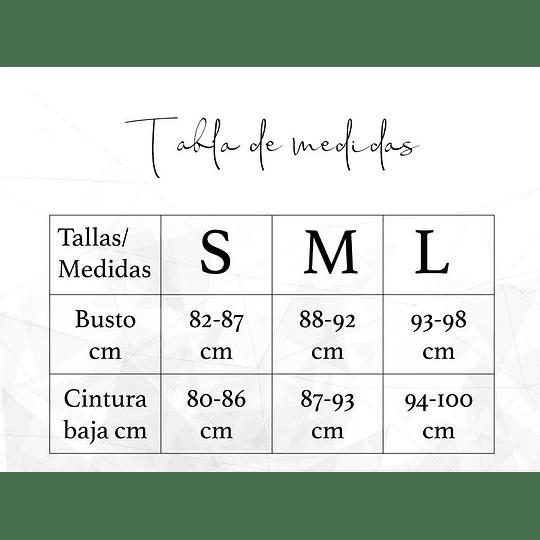 Tanga elástico letras Malla