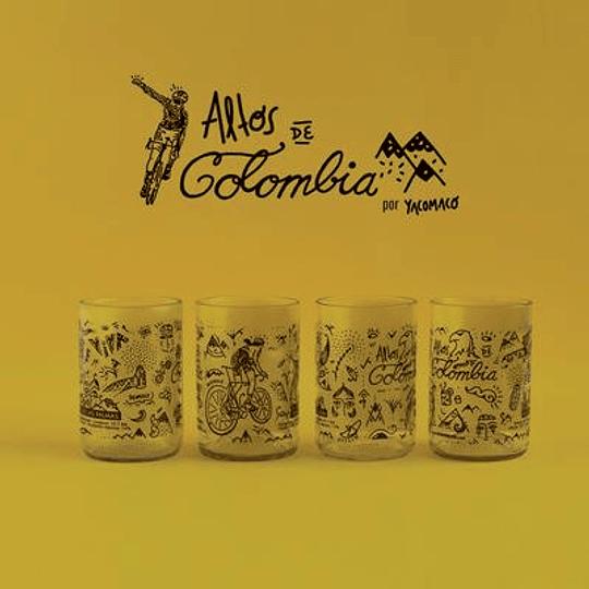Vasos Altos de Colombia x4
