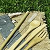 Kit Cubiertos de Bambú + Pitillo