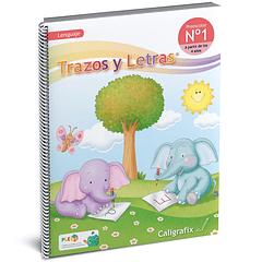 Cuaderno Interactivo - Trazos y Letras Nro. 1  Caligrafix