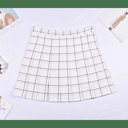 Falda tenis blanca cuadrille