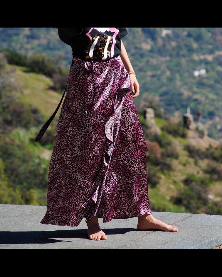 Falda Vuelos Satin