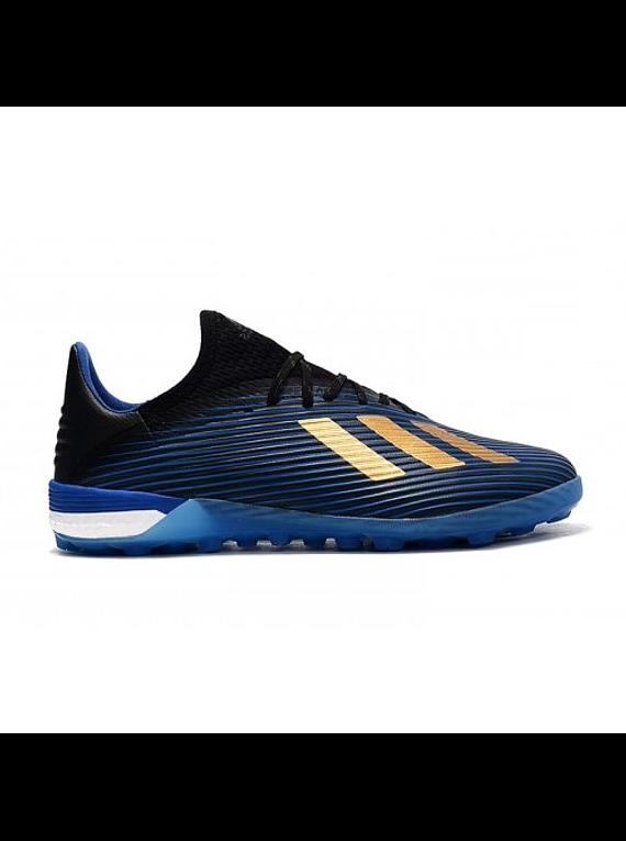 Adidas X 19.1 TF Azul/Dorado