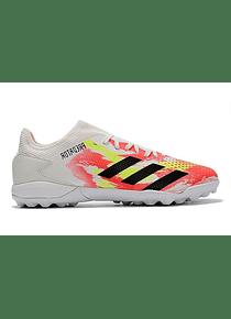 Adidas Predator 20.3 Low TF Blanca-Roja-Amarillo Neón