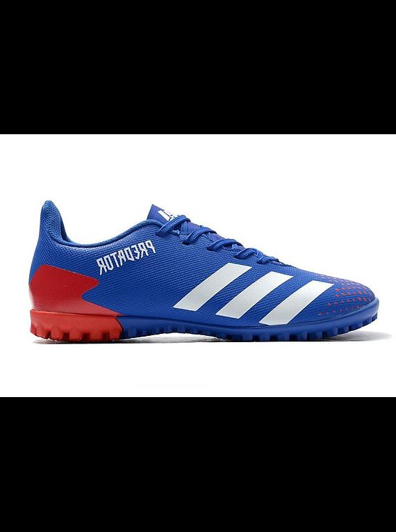 Adidas Predator 20.4 TF Azul/Rojo
