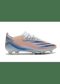 Adidas X Ghosted.1 Blanco/Azul/Naranja FG
