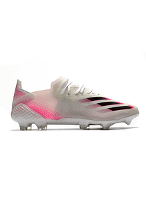 Adidas X Ghosted.1 Blanco/Rosa FG