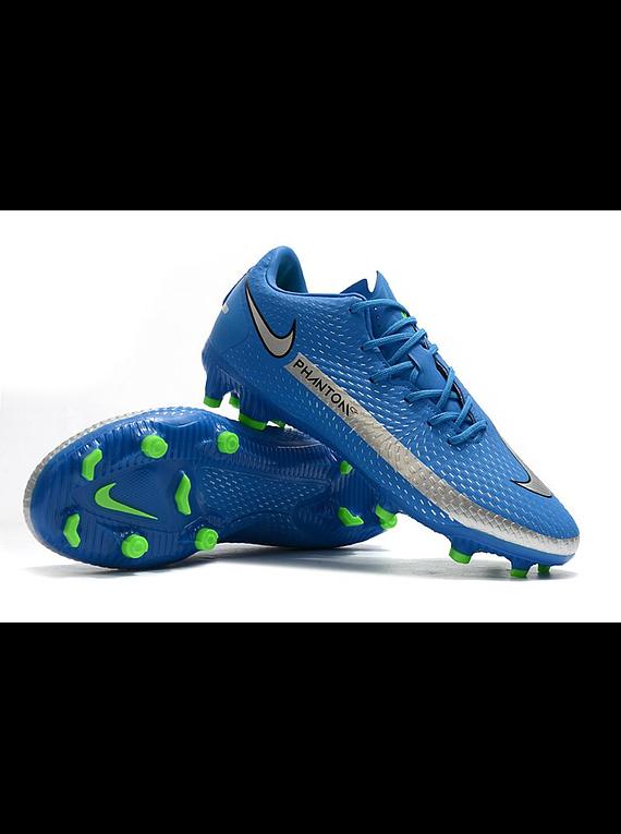 Nike Phantom GT Club FG-MG Branded - Azul / Plateado / Verde