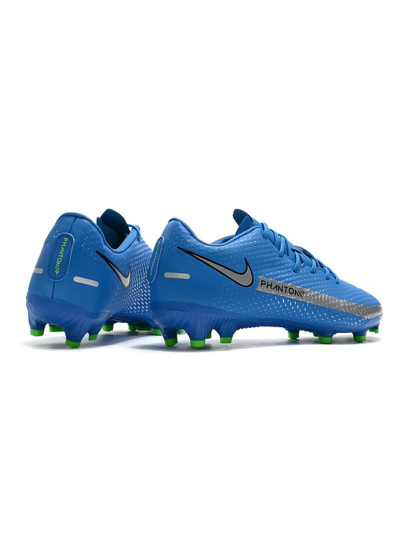 Nike Phantom GT Club FG-MG Branded - Azul / Plateado / Verde