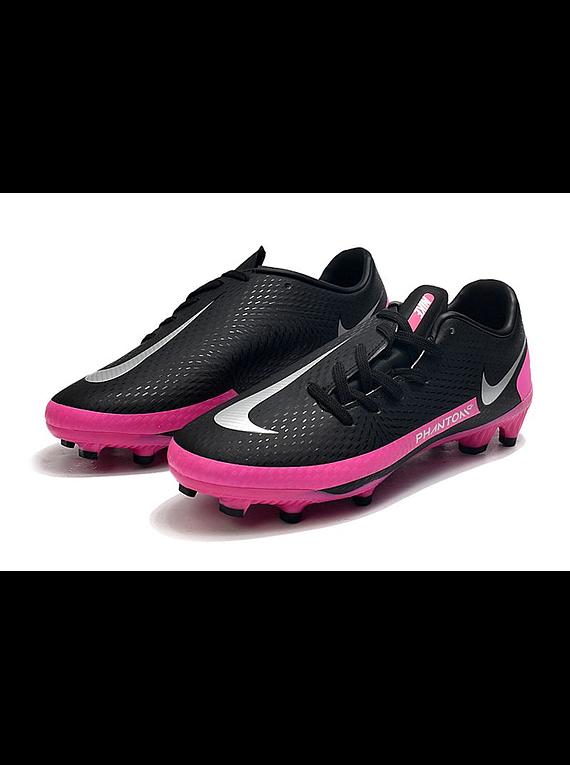 Nike Phantom GT Club FG-MG Negras/Plateadas/Pink Blast
