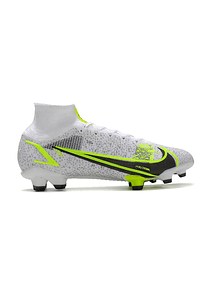 Nike Mercurial Superfly VIII Elite FG Plata/Neón