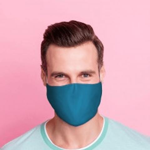 Máscara Protetora Azul Lisa