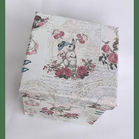 Caixa Coelhos Vintage 12,5cm