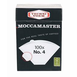 MOCCAMASTER FILTROS Nr. 4 - 100 Filtros de café