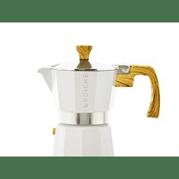 Cafetera Moka Grosche Milano White 3 cup