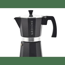 Cafetera Moka Grosche Milano Black 6 cup