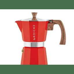 Cafetera Moka Grosche Milano Red 6 cup