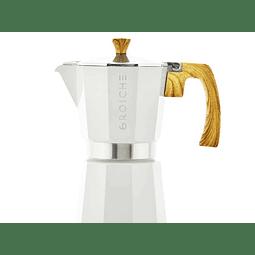 Cafetera Moka Grosche Milano White 6 cup