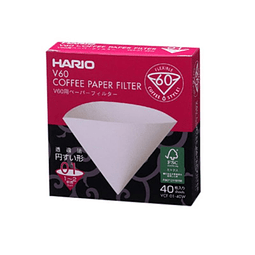 Filtro Papel V60-01 blanco 40 unidades