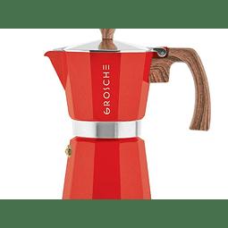 Cafetera Moka Grosche Milano Red 9 Tazas
