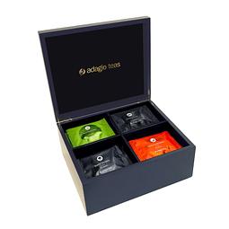 20 Teabags Caja Madera Azul Navy