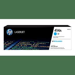 W2021A Cartucho de Tóner HP LaserJet 414A,.2100 Páginas, Cyan