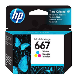 Hp 667 Color Cartridge Original 2ml