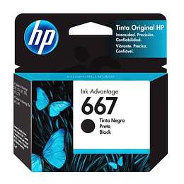 Hp 667 Negro Cartridge Original 2ml