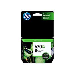 HP CZ117AL (670XL) Cartridge Negro 550PAG.