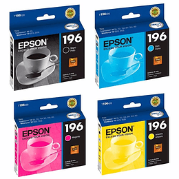 196 Epson Pack 4 Colores