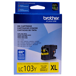 LC103 Yellow Cartridge Brother