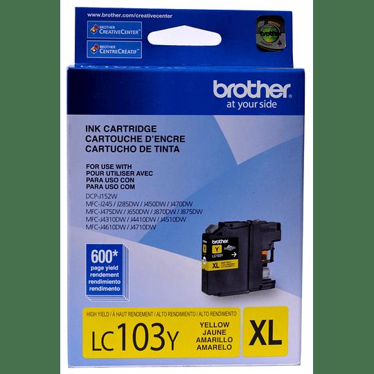 LC103 Yellow Cartridge Brother