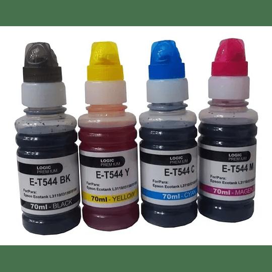 Pack 544 Epson Compatible BK,C,Y,M Tintas Alternativas