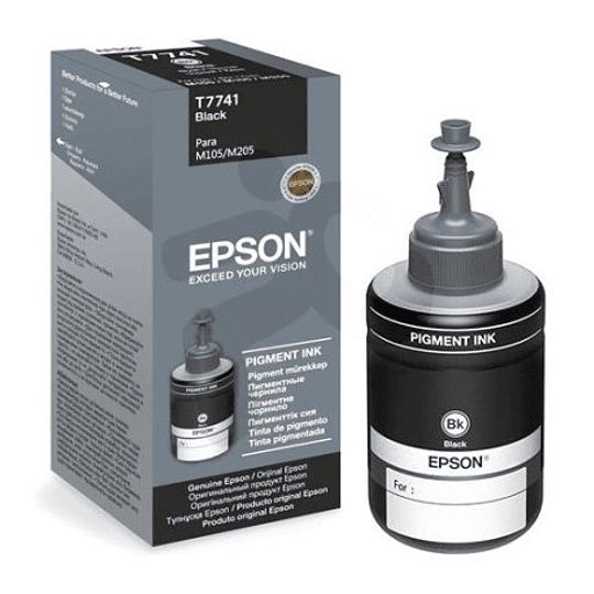 744 Epson Botella T774120-AL Negro EcoTank serie M